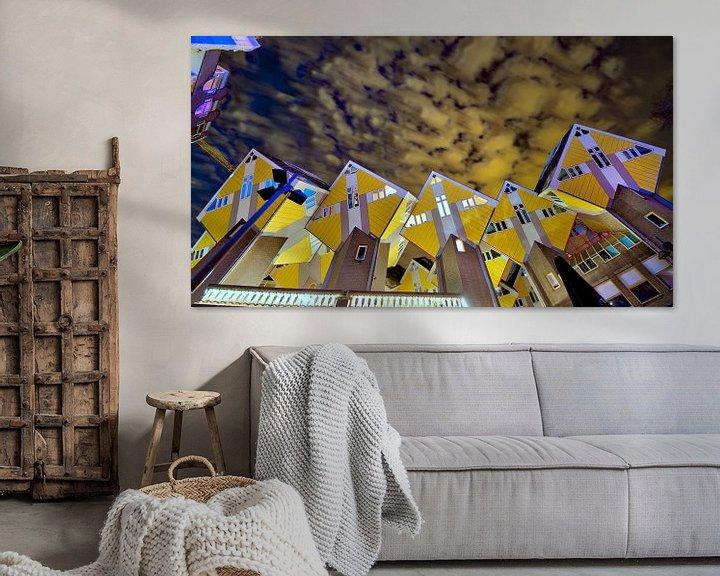 Sfeerimpressie: De kubiswoningen van Rotterdam Blaak van Eric de Haan