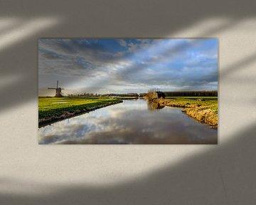 Malerischer Blick über das Naturschutzgebiet Zevenbansche Boezem bei Sleeuwijk. von Ruud Morijn