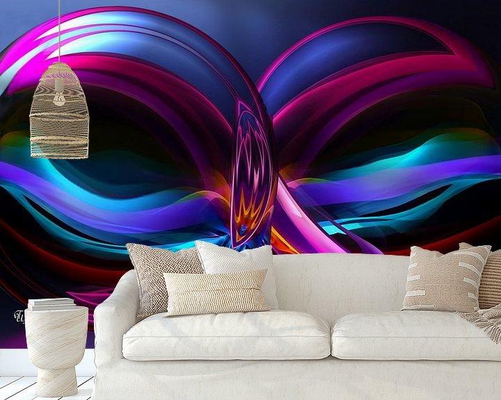 Sfeerimpressie behang: leuchtend bunte Kugeln.... van Thea Ulrich / UtheasArt