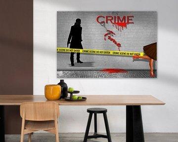 Crime Time als street art van Monika Jüngling