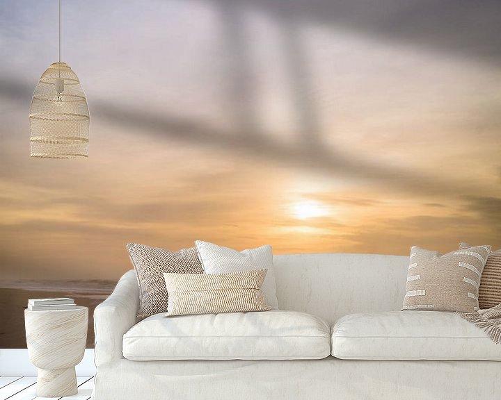 Sfeerimpressie behang: verticale horizon van Ruben Van der Sanden