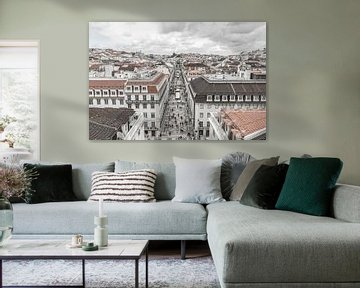 Rua Augusta in Lissabon von MS Fotografie | Marc van der Stelt
