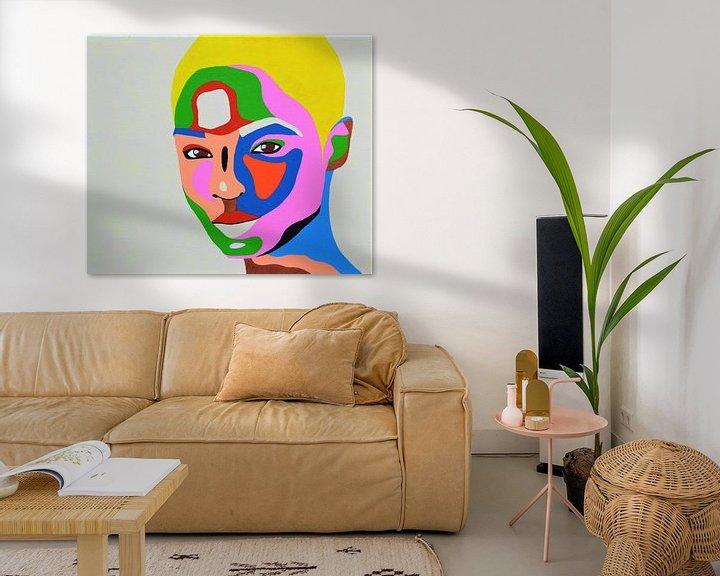Beispiel: Shortcut Malerei der blonden Frau von Freek van der Hoeve