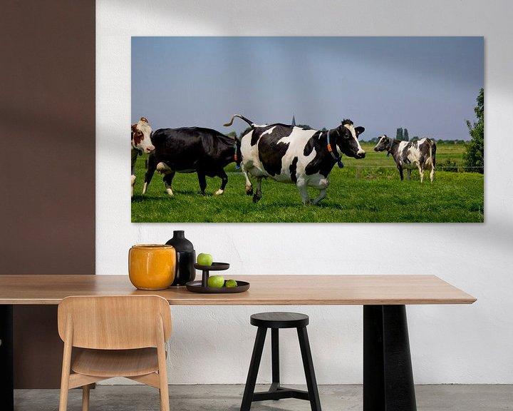Sfeerimpressie: Springende koe van PJG Design