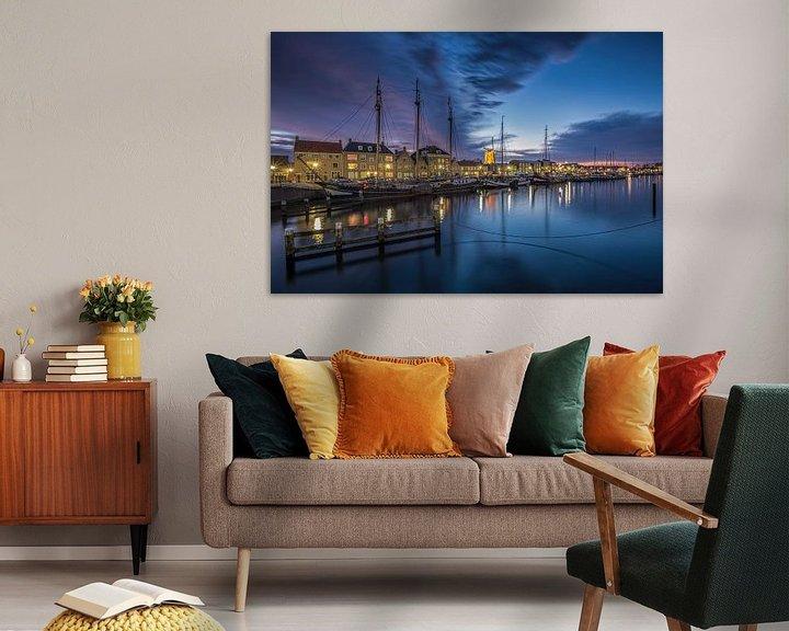 Sfeerimpressie: Bluehour at the docks (Hellevoetsluis) van Remco Lefers