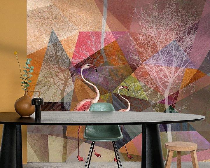 Beispiel fototapete: FLAMINGOS P23 von Pia Schneider