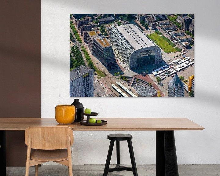 Sfeerimpressie: Luchtfoto Markthal 1 van Anton de Zeeuw