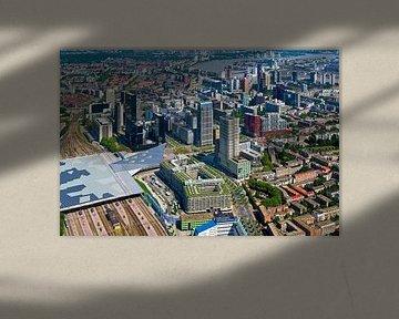 Luchtfoto Centrum Rotterdam van Anton de Zeeuw