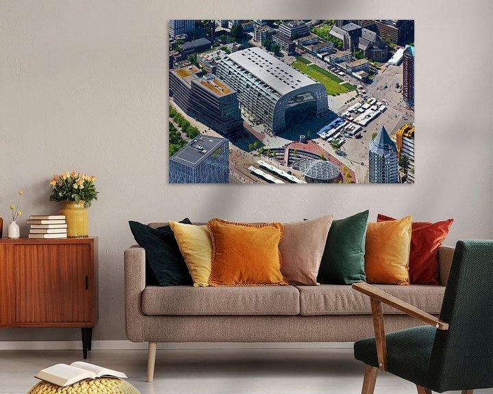 Sfeerimpressie: Luchtfoto Markthal 2 te Rotterdam van Anton de Zeeuw