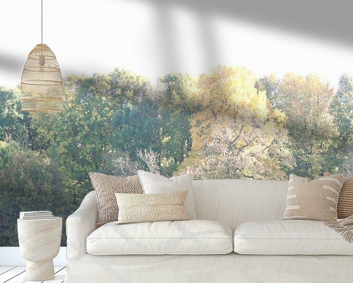 Sfeerimpressie behang: Bomenrij van Jessica van den Heuvel