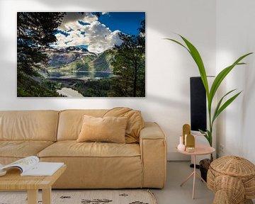 De stuwdam van Ringedalsvannet in Noorwegen van Ricardo Bouman