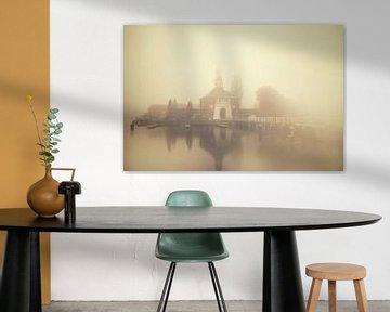 De Zijlpoort van Leiden in de Mist sur Martijn van der Nat