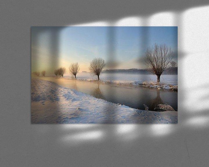 Sfeerimpressie: Schilderachtig winterlandschap bij het Brabantse dorp Drimmelen van Ruud Morijn