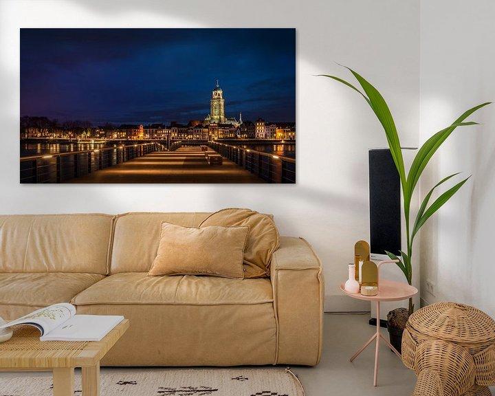Sfeerimpressie: Deventer in het blauwe uurtje van Erik Veldkamp