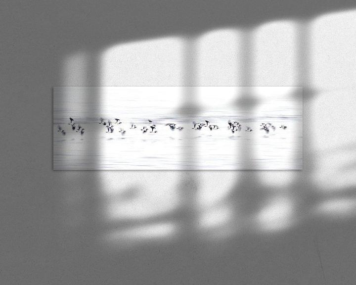 Sfeerimpressie: Een zwerm Kievieten van Erik Veldkamp
