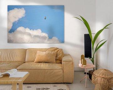 Buizerd in de wolken van Erik Veldkamp