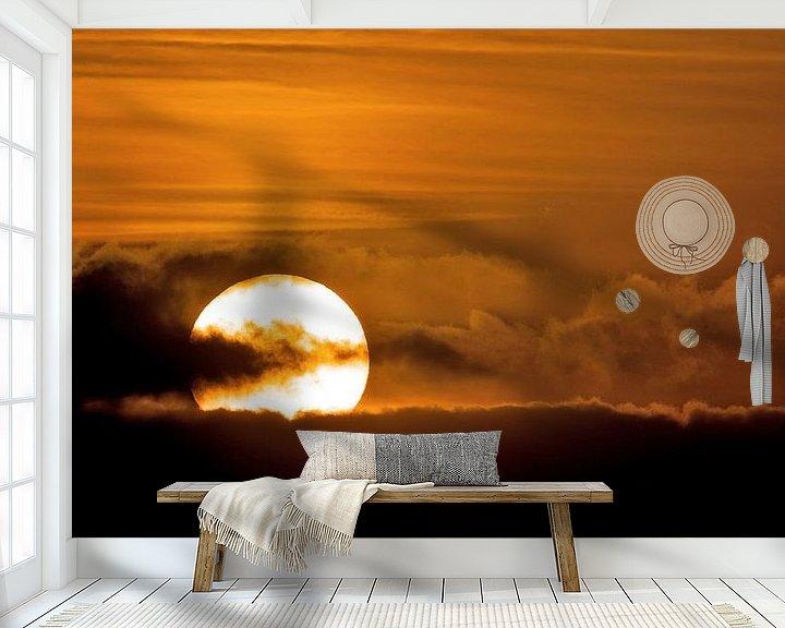 Sfeerimpressie behang: Zonsondergang van Erik Veldkamp