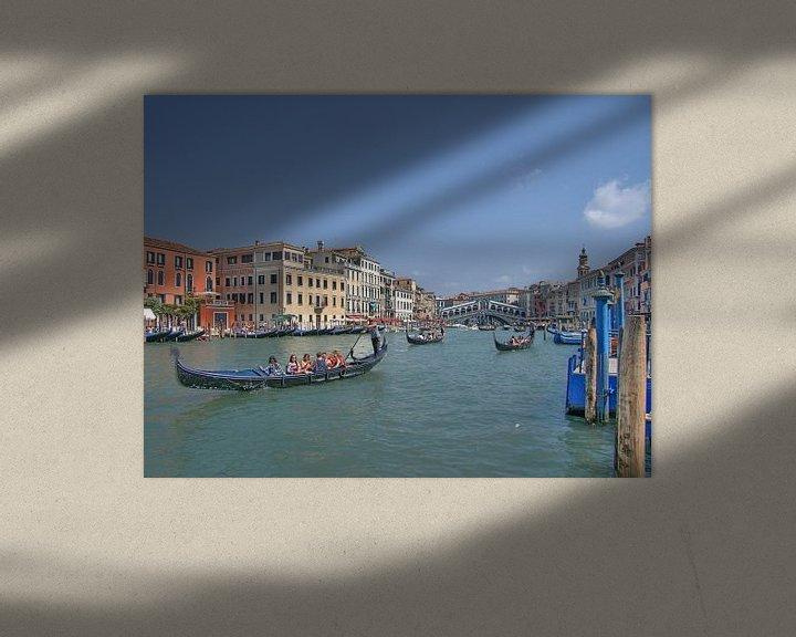 Sfeerimpressie: Gondels in Venetie van Rens Marskamp