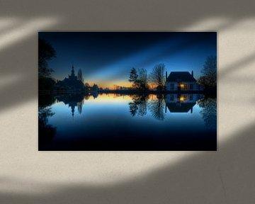 Blauw uur / Overschie / Veerhuis