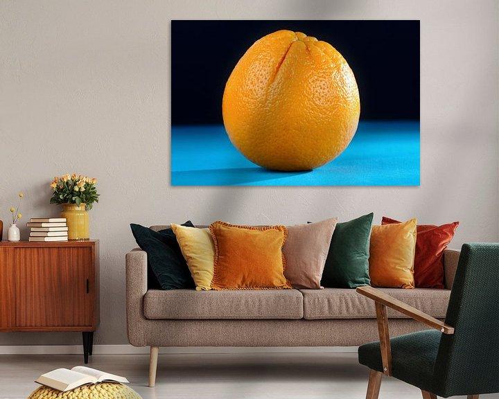Impression: Orange auf Blau sur Jan Brons