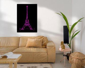 Digital-Art Eiffelturm | pink   von Melanie Viola