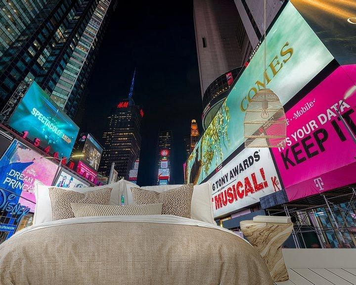 Impression: Photo du soir Time Square, New York sur Mark De Rooij