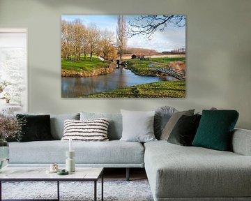 Kleurrijk Nederlands landschap bij Klundert
