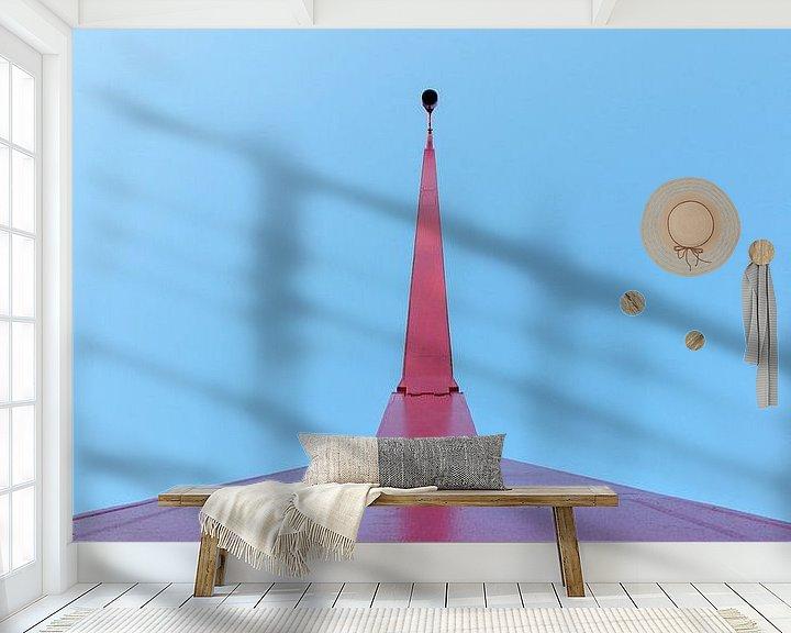 Sfeerimpressie behang: Straatlantaarn  van Jaco Verheul