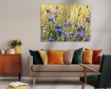 Bloemen blauw von Jellie van Althuis