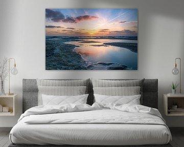 Rustgevende zonsondergang van Richard Steenvoorden