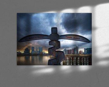 Canary Wharf view / London von Rob de Voogd / zzapback