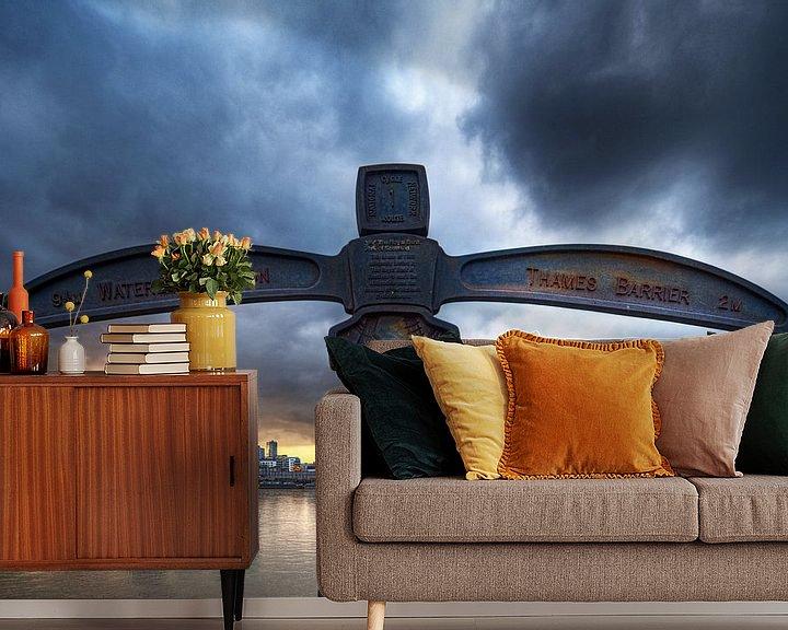 Sfeerimpressie behang: Canary Wharf view / London van Rob de Voogd / zzapback
