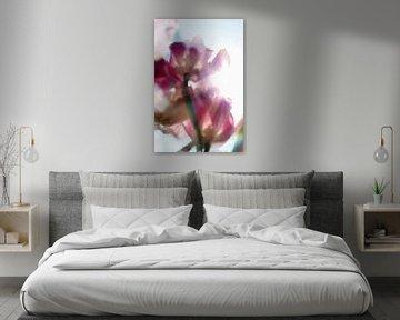 Lente tulpen en regenboog van Marianna Pobedimova