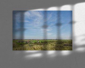 Zicht op Hollum, Ameland von Greet ten Have-Bloem
