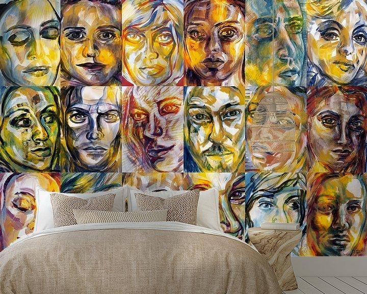 Sfeerimpressie behang: Licht Mensen van ART Eva Maria