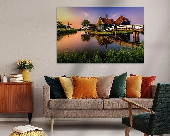 Sfeerimpressie: Zonsondergang Kaasboerderij 'Zaanse Schans' van Patrick Rodink