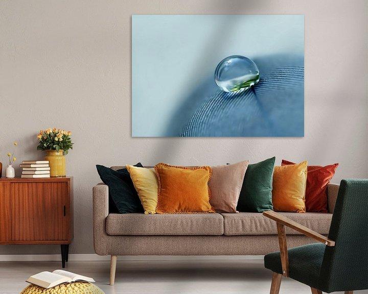 Sfeerimpressie: Denim Droplet (Druppel in Denim) van Caroline Lichthart