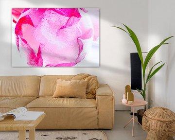 Wild roses in ice 4 van Marc Heiligenstein
