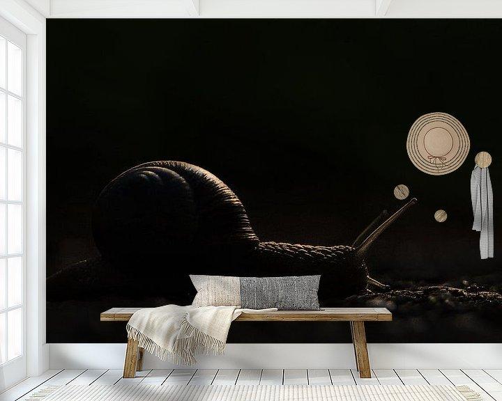 Sfeerimpressie behang: Stranger in the Night van Dick Vermeij