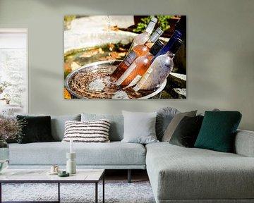 Wein rosé im kuhler sur Gabsor Fotografie