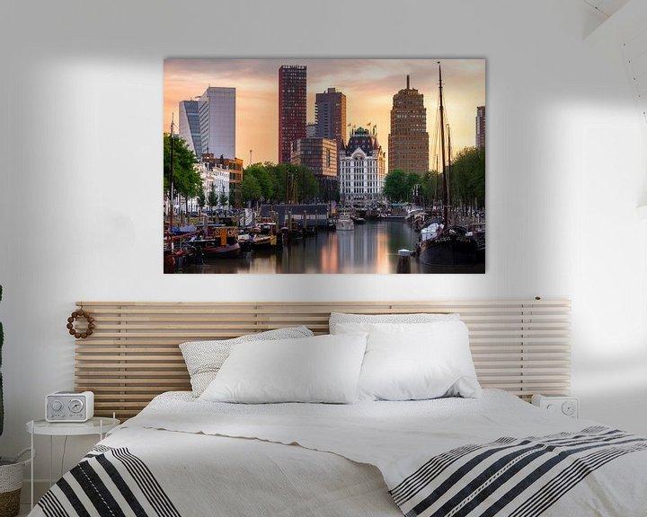 Sfeerimpressie: Wittehuis Rotterdam met skyline van Prachtig Rotterdam