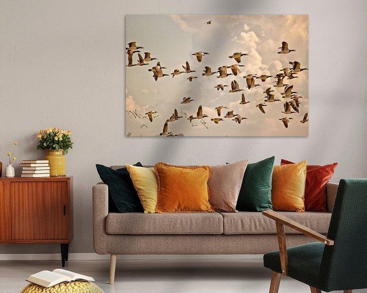 Beispiel: Auffliegende Gänse von Kees Maas