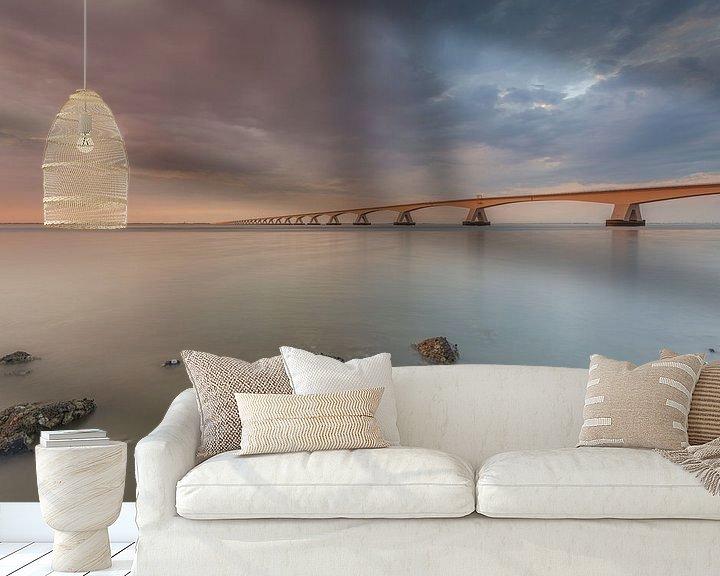 Sfeerimpressie behang: Zeelandbrug van Adrian Visser