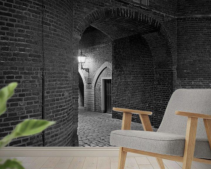 Sfeerimpressie behang: Ingang Oostpoort Delft van Anton de Zeeuw