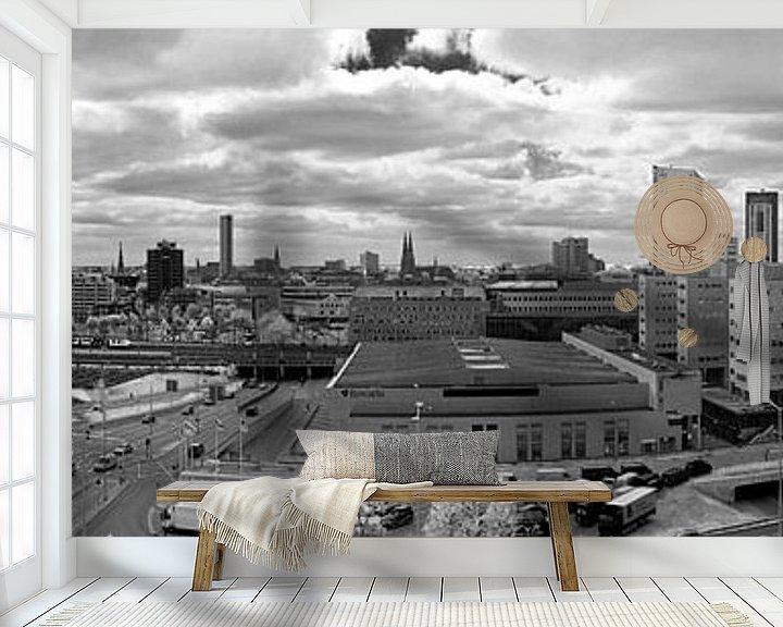 Sfeerimpressie behang: Panorama Eindhoven van Anton de Zeeuw
