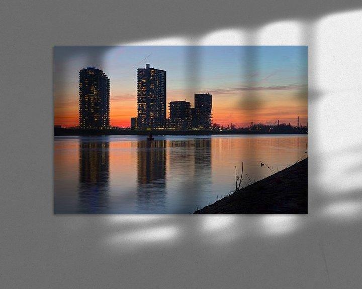 Sfeerimpressie: Skyline Spijkenisse van Anton de Zeeuw