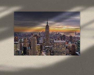 New York vanaf 'Top of the Rock' van Edwin Mooijaart