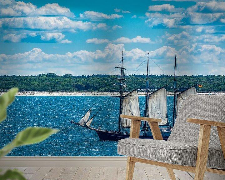 Beispiel fototapete: Ein Segelschiff auf der Ostsee  von Rico Ködder