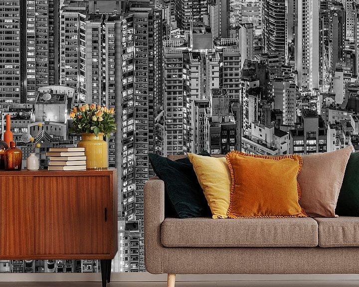 Sfeerimpressie behang: HONG KONG 23 van Tom Uhlenberg