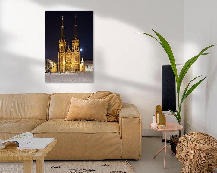 Beispiel: Nacht Foto St. Joseph Kirche in Tilburg von Anton de Zeeuw